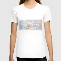 music notes T-shirts featuring Music Notes by Rick Borstelman