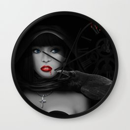 Vampire at Midnight Wall Clock