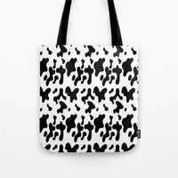 cow Tote Bags featuring Cow by Cs025