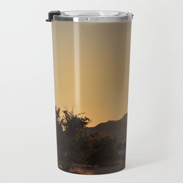 Saguaro Sunset Salute Travel Mug