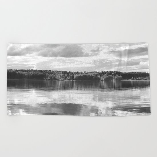Reflections On A Lake Beach Towel