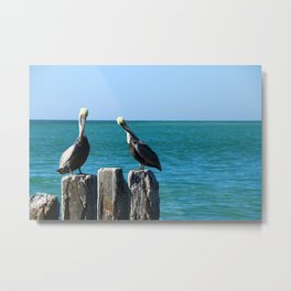 Two Old Guys On A Jetty Metal Print