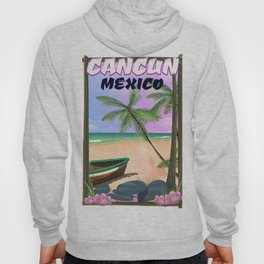 Cancun Mexico beach poster. Hoody