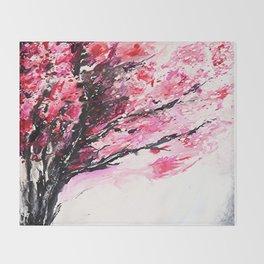 Cherry Tree Throw Blanket