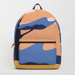 The Blue Hat Girl / Windy Day Backpack