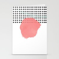 polka dot Stationery Cards featuring polka dot by Ceren Aksu Dikenci