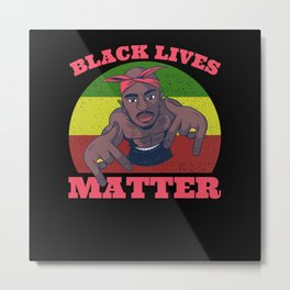 Black Lives Matter Movement For Human Rights Metal Print