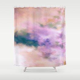 Color Burst - Blue Hydras Shower Curtain