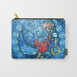 Blue Glass Heart Carry-All Pouch