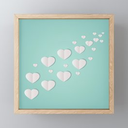 AFE Paper Hearts Framed Mini Art Print