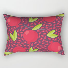 Hand drawn floral elements and garnets Rectangular Pillow