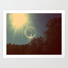 Sun Beam. Art Print