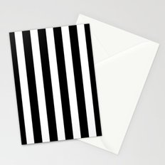 Classic Black and White Football / Soccer Referee Stripes Stationery Cards