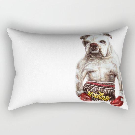 killer dog Rectangular Pillow