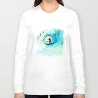 surfer Long Sleeve T-shirts featuring Surfer by Bruce Stanfield
