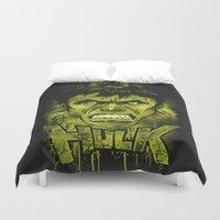 hulk Duvet Covers featuring HULK by dan elijah g. fajardo