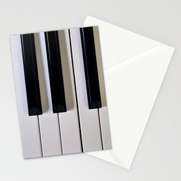 Piano Keys Upright Stationery Cards
