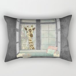 Bay Window Giraffe Rectangular Pillow