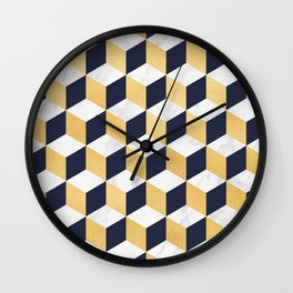 Marble Covered Gold Wall Clock