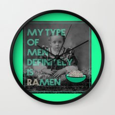 ramen lover Wall Clock