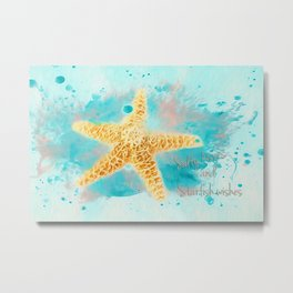 Starfish Wishes Metal Print