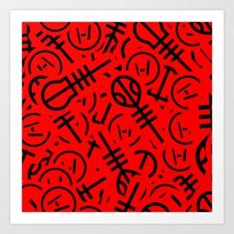 TØP Stickers - Red & Black Art Print