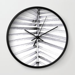 watercolor lines palm leaf 13 Wall Clock