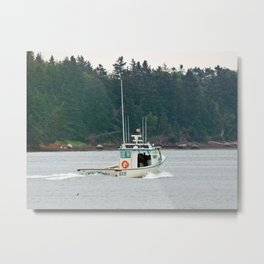 Wild Winds Heading Out Metal Print