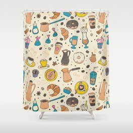 Spicy coffee Shower Curtain