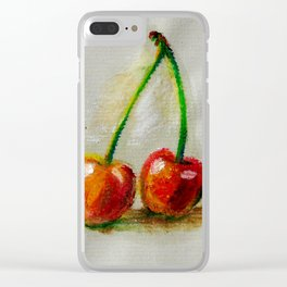 Cherries. Oil painting. Clear iPhone Case