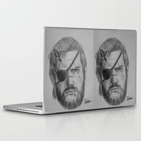 metal gear solid Laptop & iPad Skins featuring Punished Venom Snake - Metal Gear Solid V: The Phantom Pain by TuncayVural