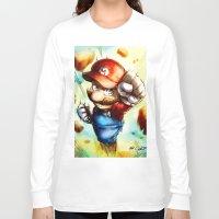 super mario Long Sleeve T-shirts featuring Super Mario by markclarkii
