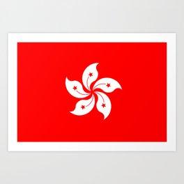 Hong Kong Flag Art Print