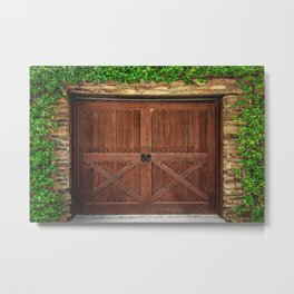 Door and Ivy Backdrop Metal Print