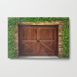 Door and Ivy Backdrop Metal Print