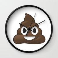 poop Wall Clocks featuring Whatsapp - Poop by swiftstore