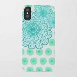 seafoam & blueeeey iPhone Case