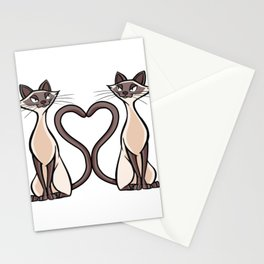 Siam cat Stationery Cards