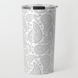 Paisley (Gray & White Pattern) Travel Mug