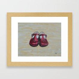 Red Mary Janes Framed Art Print