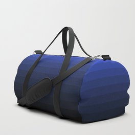 Black and blue striped Ombre Duffle Bag
