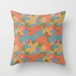 Mod squad blob pattern 4 Throw Pillow