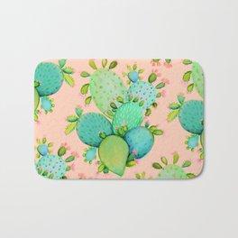 Cactus Succulent Pattern Bath Mat