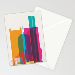 Shapes of Boston. Accurate to scale Stationery Cards
