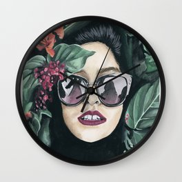 Floral Girl Wall Clock