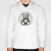teddy bear Hoodies featuring Teddy Bear by Nicole Cioffe
