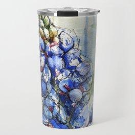 Spring Watercolor Texas Bluebonnet Flowers Travel Mug
