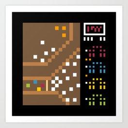 Minimal NES: Gauntlet Art Print
