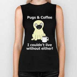 Pugs and Coffee Biker Tank