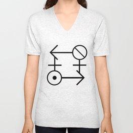 """""""Gender Ouroboros"""" TRON MAXIMUM  Insignia (Dark) Unisex V-Neck"""